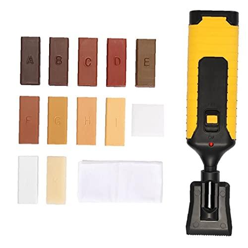 Laminado reparación del Piso Kit Muebles Encimera Chips de fácil Uso no es fácil Desgaste Sistema de Cera Herramienta de la reparación arañazos