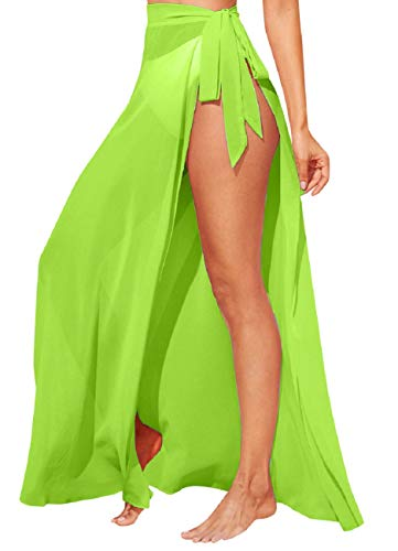 Tuopuda Mujer Playa de Gasa Falda Larga Semi Transparente Bikini Cubierta de Traje de Baño de Verano Pareos y Ropa de Playa