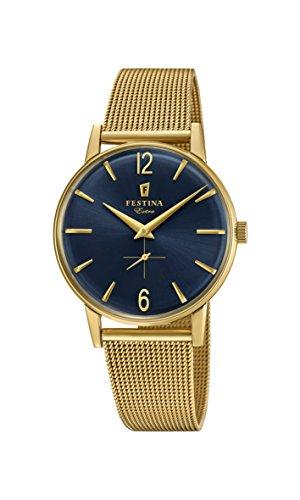 Festina Herren Analog Quarz Uhr mit Edelstahl Armband F20253/2