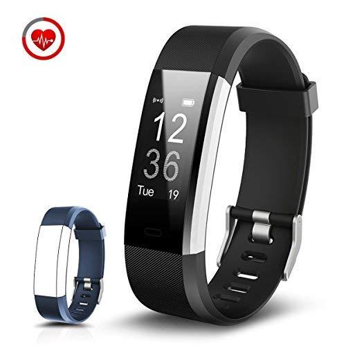 CHEREEKI Pulsera Inteligente con Pulsómetro Pulsera Actividad con Contador de Calorias/Monitor de Sueño/Contador de Pasos/Reloj Fitness Tracker Smartwatch para Android y iOS iPhone