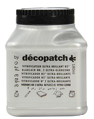 Decopatch Lack. glänzend 180 ml Silber