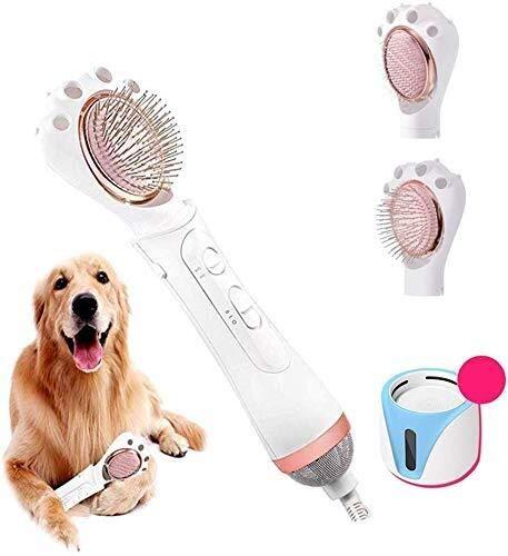 Haardroger voor huisdieren, 2-in-1, draagbaar, vachtverzorging, haardroger voor dieren, verstelbare temperatuurinstellingen voor kleine en middelgrote honden, katten, inclusief