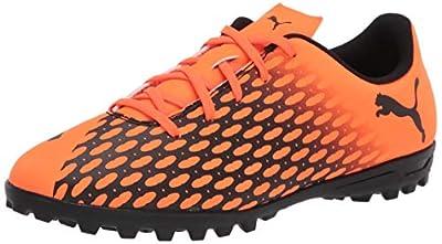 PUMA unisex child Puma Spirit Soccer Shoe, Shocking Orange-puma Black, 6.5 Big Kid US