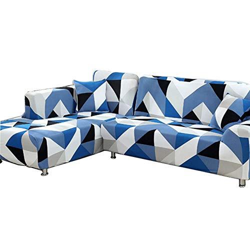 Jay Funda de sofá para Sala de Estar Sofá seccional Fundas para sillas Fundas para sofá de Dos plazas Textiles para el hogar elásticos universales,Azul,3—Seater(195—230cm)