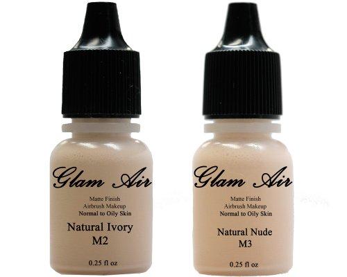 Glamair (2) Dos bases de maquillaje aerógrafo M2 Natural Marfil y M3...