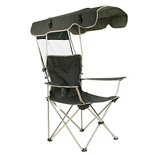 YUYAXPB Silla De Camping Plegable para Exteriores Sillas De Bosquejo con Toldo De Sombra Protección Solar Sillas De Camping Cómodas Y Duraderas Portátiles
