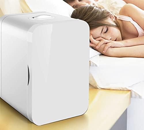 Vogvigo 8L Mini Refrigerador Doméstico 220V / 48W Refrigerador Pequeño Portátil Silencioso Ligero y Portátil de Doble Uso Frío y Caliente Para Dormitorios/Oficina/Automóvil/Camping