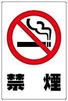 表示看板 「禁煙」 流れる煙 反射加工なし 小サイズ 30cm×45cm VH-191S