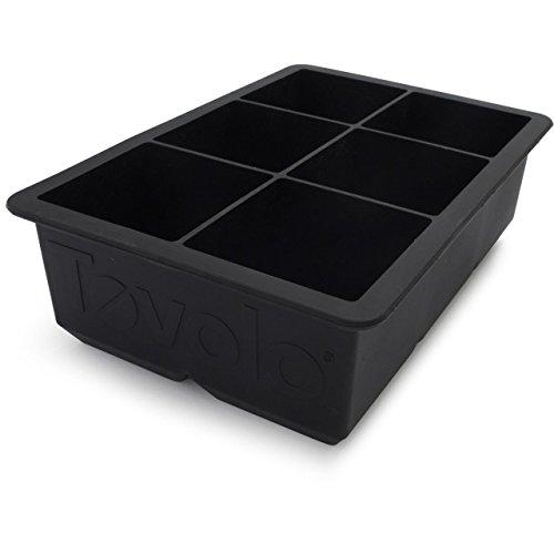 Tovolo King Cube Ice Trays, Black