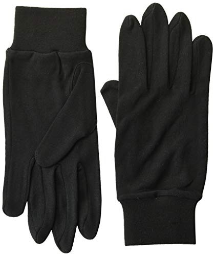 Body Sensors Men's and Women's Ultra-Thin Performance Silk Gloves Black, X-Large (8)
