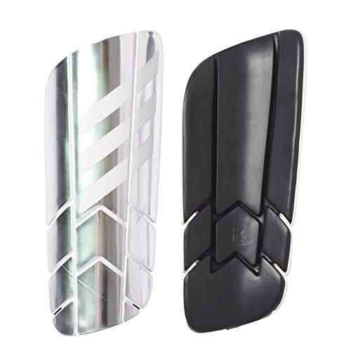 adidas Ghost Pro Schienbeinschoner, Unisex Erwachsene XS versilbert (Plamet/weiß/schwarz)