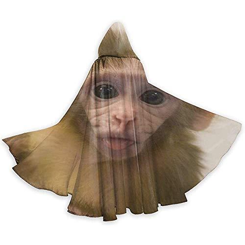 Niet geschikt cape kostuum, losse omhanging, omhang met capuchon, volwassenen capuchon, lange capuchon, apen-baby-vampier-cape, feest-/kerstkostuum