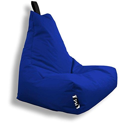 Patchhome Lounge Sessel XXL Gamer Sessel Sitzsack Sessel Sitzkissen In & Outdoor geeignet fertig befüllt | XXL - Blau - in 2 Größen und 25 Farben