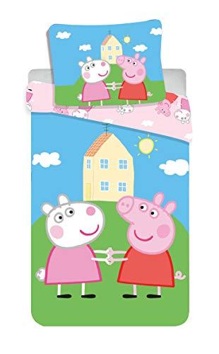Jerry Fabrics 8500 Peppa Pig - Juego de Funda nórdica y Funda de Almohada (100 x 135 cm y 40 x 60 cm)