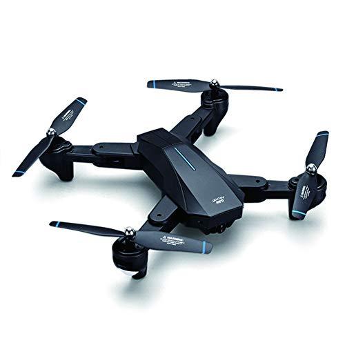 LJJLJJ Cámara HD 4K Drone WiFi Fotografía Aérea RC Flujo Óptico Punto Fijo Foto De Gestos UAV Juguete RC Aviones, para Niños Juguetes Regalos, Control De Gestos, Mantener La Altitud,Negro,4K+1080P