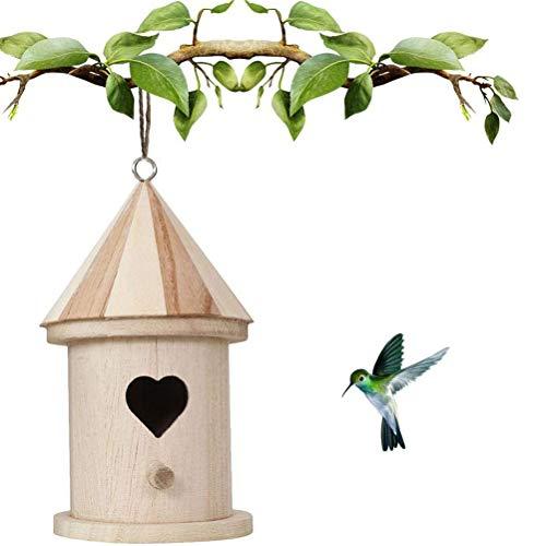 HEREB Nido de Pájaro-Nido de pájaro de Madera DIY Nido al Aire Libre Alimentador de pájaros Colgar Casas de pájaros de Madera Pintura DIY Casa de pájaros