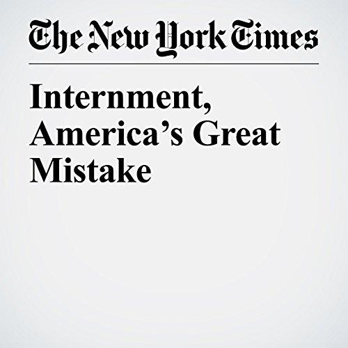 Internment, America's Great Mistake copertina