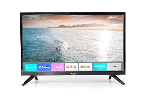 Xoro HTL 2276 54 cm (21.5 Zoll) SmartTV FullHD Fernseher mit integriertem HD Triple Tuner (DVB-S2/T2/C), H.265/HEVC-Decoder und Mediaplayer