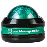 Core Products Omni Massage Ball Manual Roller Massager for Self Massage Therapy Tool, Black Cap - Green