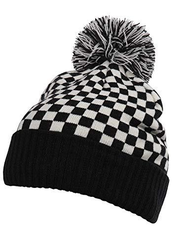 Nitro Snowboards Brat Hat gebreide muts, zwart (checker/black checker/zwart), één maat (grootte van de fabrikant: OS) voor heren