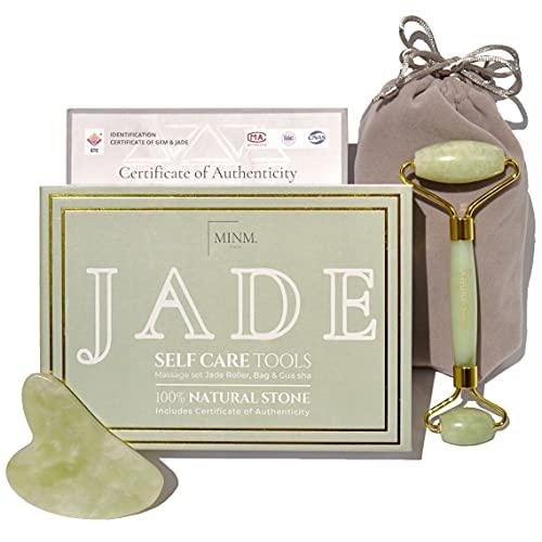 Rodillo de Jade y Gua Sha   Certificado...