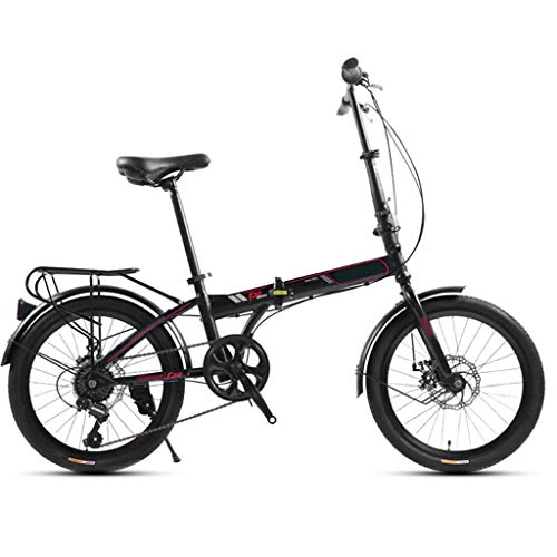 TYXTYX 20 Zoll Klapprad Faltrad Klappfahrrad Urban Bike,7 Gang, Scheibenbremsen,Faltfahrrad für Herren und Damen