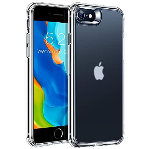 TORRAS 半クリア iPhone se2 用 ケース iphone8 用 iphone7 用 ケース 2021開発 超耐衝撃 米軍MIL規格 マット感 指紋防止 黄ばみなし 薄型 アイフォン SE 第2世代 7 8 用カバー マット・クリア