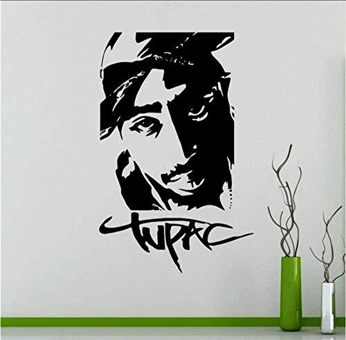 Aufkleber 2Pac Wandtattoo Wand Vinyl Aufkleber Rapper Hip Hop Home Interior Schlafzimmer Dekor Wandgestaltung 55 X 84 Cm
