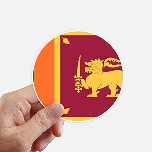 DIYthinker Sri Lanka Nationale Vlag Azië Land Ronde Stickers 10 Cm Wandkoffer Laptop Motobike Decal 8 Stks