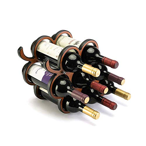ShiSyan 8 Botella de Vino de la Vid del Organizador del almacenaje/Estante de exhibición (Color: Marrón, Tamaño: 28x17.5x40.3cm)