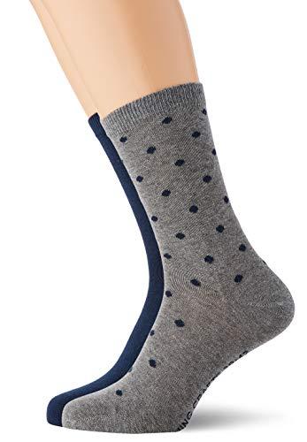 Living Crafts Socken, 2er-Pack 39/42, night blue dots