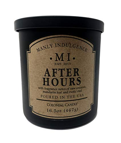 Manly Indulgence After Hours Scented Single Wick Soy Blend Candle