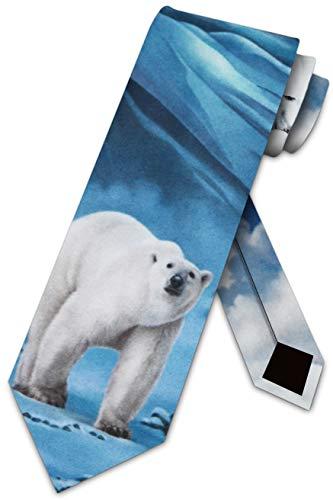 Polar Bear Ties Mens Necktie Tie by Three Rooker