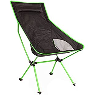 Folding Chairs Ultralight And Convenient Aluminum Alloy With Pillows Camping Chairs 800D Thick Oxford Fishing Chairs Suitable For Outdoor Recreation Fishing Hiking, Green:Kostenlosefilme