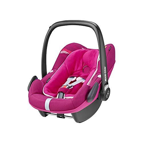 Maxi-Cosi Pebble Plus i-Size Babyschale, Gruppe 0+ Autositz für Babys, inkl. Sitzverkleinerer, nutzbar ab der Geburt bis ca. 12 Monate (0-13 kg / 45-75 cm), Frequency Pink, pink