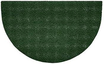 Nicoman Embossed Halfmoon Half Circle Door Mat Dirt-Trapper Jet-Washable Doormat 70x44cm (Green, Plain) - Use Indoor or Sh...