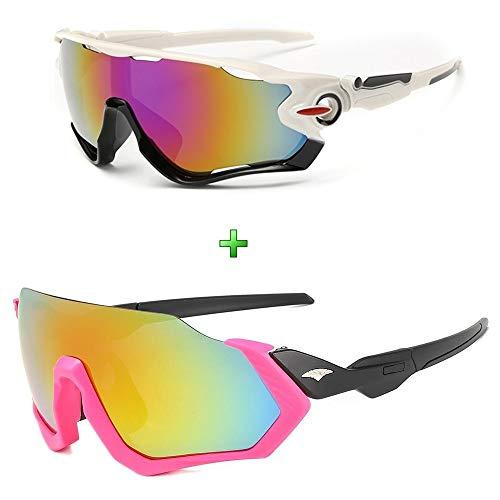 Óculos De Sol Bike Ciclismo Feminino Proteção Uv Kit 2 Peças