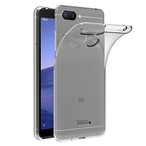 MaiJin 対応シャオミ Xiaomi Redmi 6 (5.45インチ) 透明 耐衝撃 スマホケース TPU クリア ソフト 背面保護カバー