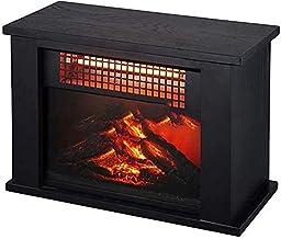 Fireplace Suite Chimenea Eléctrica Infrarroja 3D con Efecto De Llama Realista Calentador Eléctrico Portátil De 2000 W Estructura De Metal Negro Calefacción De Espacios Calefacción De Espacios