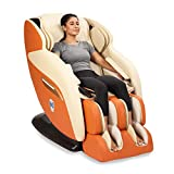 JSB MZ16 Full Body Massage Chair for Home and Office (Luxury 3D Space Saving Design) (Red)