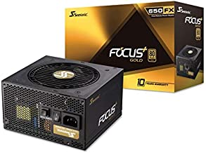 Seasonic FOCUS Plus 650 Gold SSR-650FX 650W 80+ Gold ATX12V & EPS12V Full Modular 120mm FDB Fan 10 Year Warranty Compact 140mm Size Power Supply