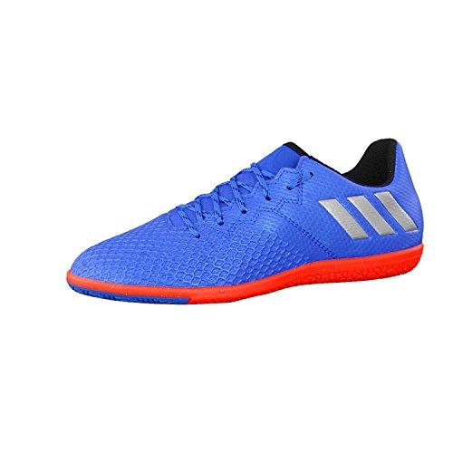 adidas Messi 16.3 IN Niño, Zapatilla de fútbol Sala, Shock Blue-Matte Silver-Black, Talla 4 UK (36 2/3 EU)