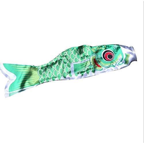 Lorenlli 5 Farben 55cm wasserdichter japanischer Karpfen Windsack Streamer hängen Fisch Flagge Dekor Kite Koinobori für Kinder