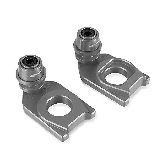 Motorcycle Swingarm Slider/Fit For SYM MAXSYM TL 500 TL500 Chain Adjustment Block Frame Swingarm Spools Rear Wheel Sliders Axle Stand Hook Sliders 2020 2021 (Color : Grey)