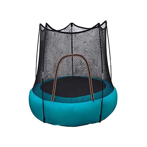 Opblaasbare uitsmijter, draagbare fitnesstrampoline voor kinderen van 3-6 jaar oud, trampoline met UV-bescherming veiligheidsnet, peutertrampolines voor gebruik binnen/buiten, draagvermoge