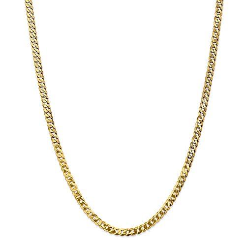 Diamond2deal 14K giallo oro 4.75mm con angoli smussati, lunghezza 61cm