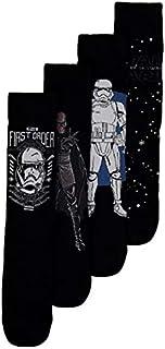 Star Wars - Calcetines para hombre (4 unidades, talla 43-47)