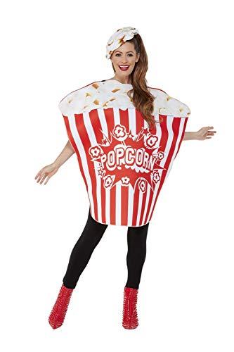 Smiffys Popcorn Costume Disfraz de palomitas de maz, color rosso, Talla nica (55010)