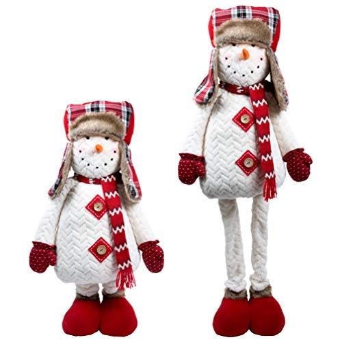 Pavillon Gift Company Ausziehbarer Schneemann für Weihnachten, 56-112 cm, Rot