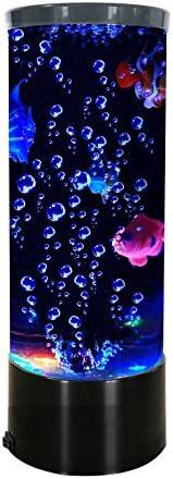 Vaticas Mini Fish Lava Lamp Bubble LED Multi Color Changing Aquarium Light with 4 Artificial product image